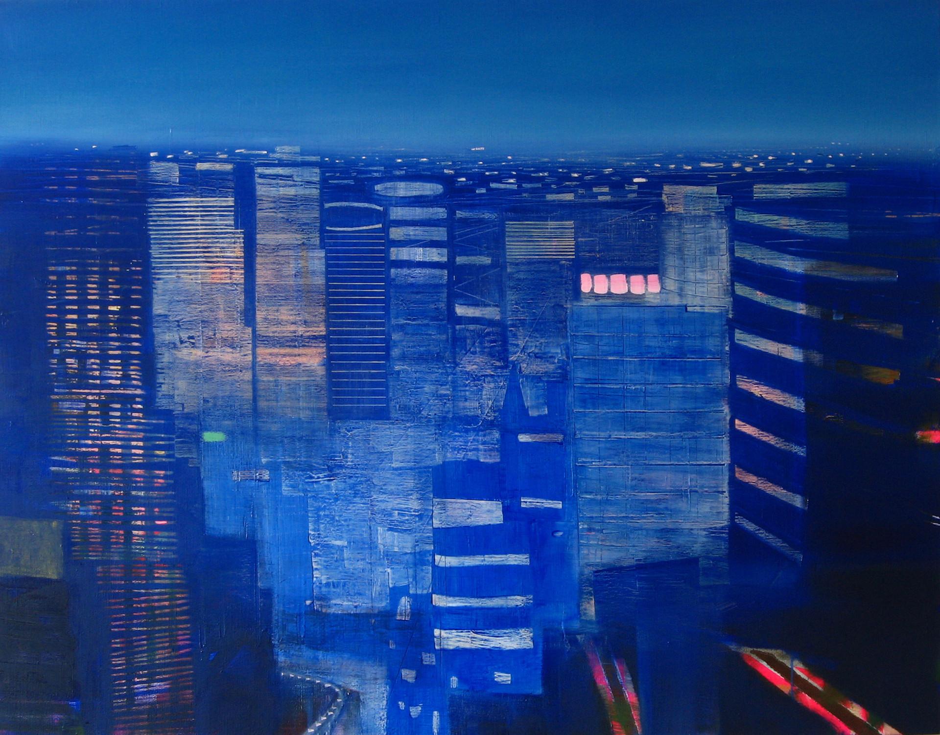 "JOSEPH SIDDIQI ""Midnight"" oil on linen 42 x 54 in. / 107 x 137 cm"