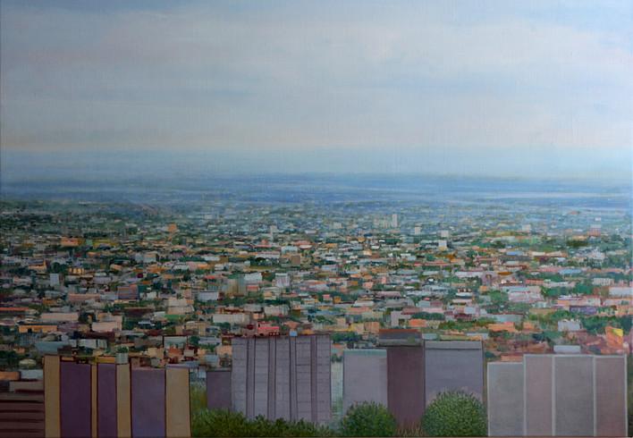"JOSEPH SIDDIQI ""Ville-Marie"" oil on linen 42 x 60 in. / 107 x 152 cm"