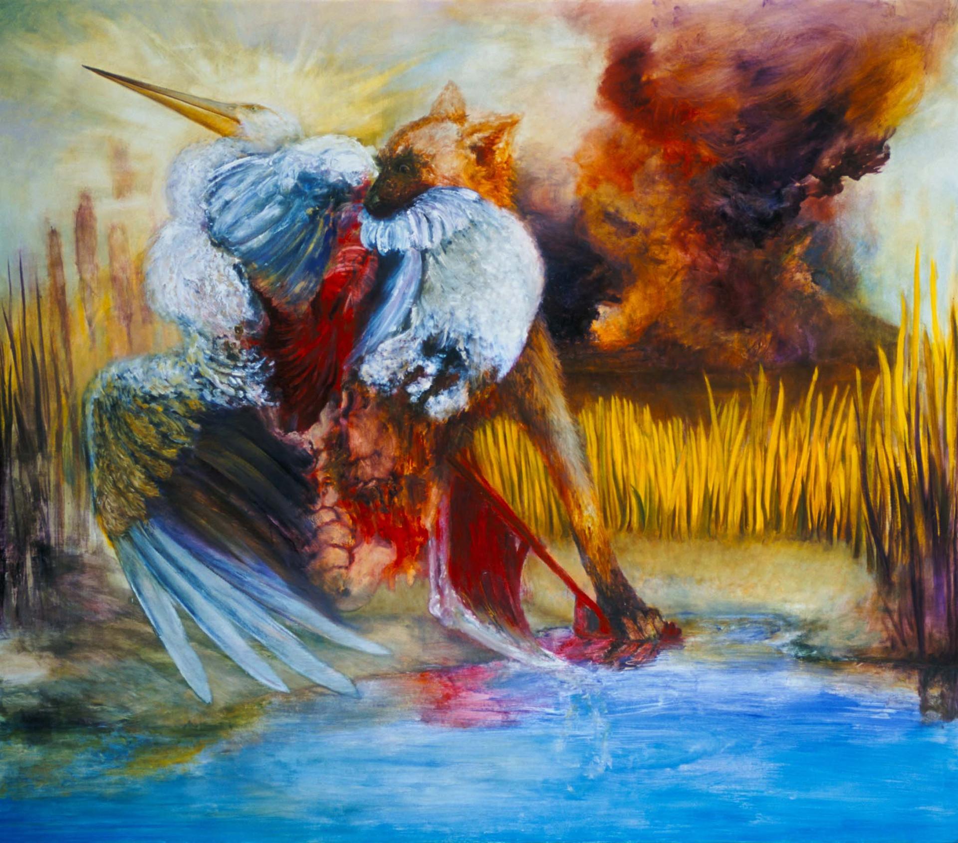 "JOSEPH SIDDIQI ""Marauders IV"" oil on canvas 84 x 96 in. / 213 x 244 cm"