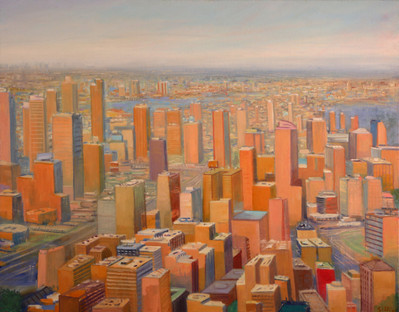 "JOSEPH SIDDIQI ""Nude City 2"" 2012 oil on linen 26 x 33 in. / 66 x 84 cm"