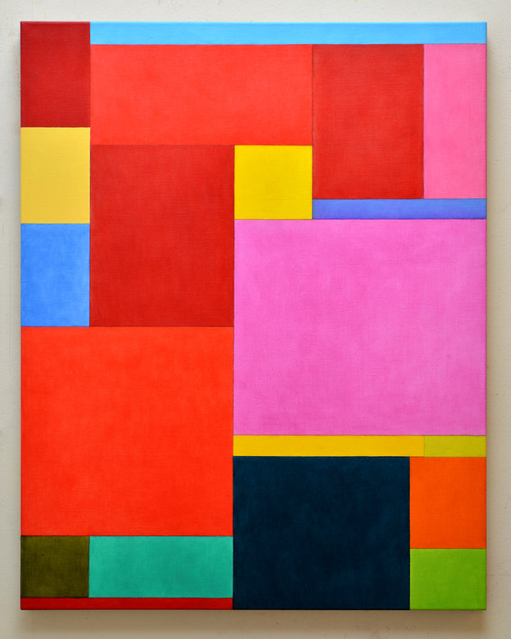 "JOSEPH SIDDIQI ""Celestial, Hell Plane""  oil on linen 40 x 32 in. / 102 x 81 cm"