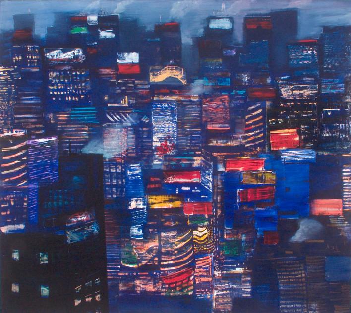 "JOSEPH SIDDIQI ""Winter Morning"" oil on canvas 63 x 70 in. / 160 x 178 cm"
