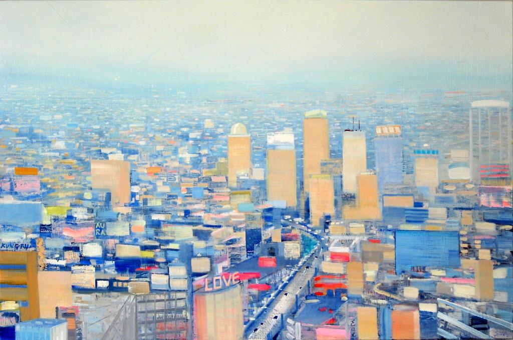 "JOSEPH SIDDIQI ""Nude City"" oil on linen 33 x 50 in. / 84 x 127 cm"