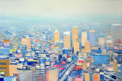 "JOSEPH SIDDIQI ""Nude City"" 2012 oil on linen 33 x 50 in. / 84 x 127 cm"