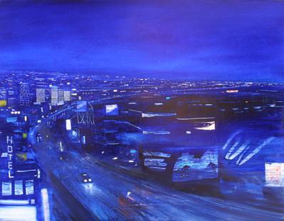"JOSEPH SIDDIQI ""Night City 4"" 2007 oil on canvas 42 x 54 in. / 107 x 137 cm"