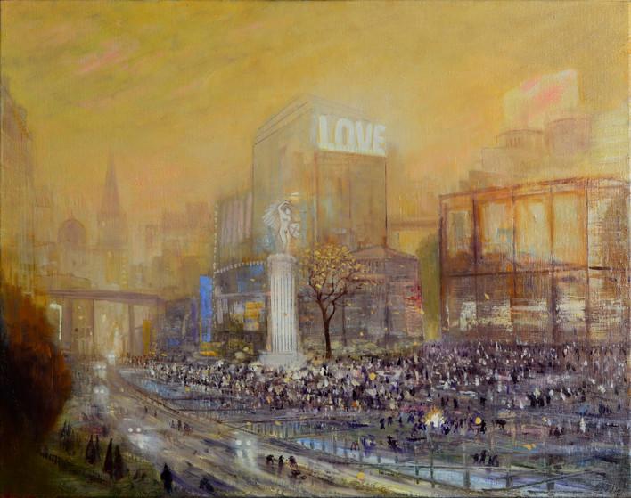 "JOSEPH SIDDIQI ""Mad Love"" oil on linen 26 x 33 in. / 66 x 84 cm"