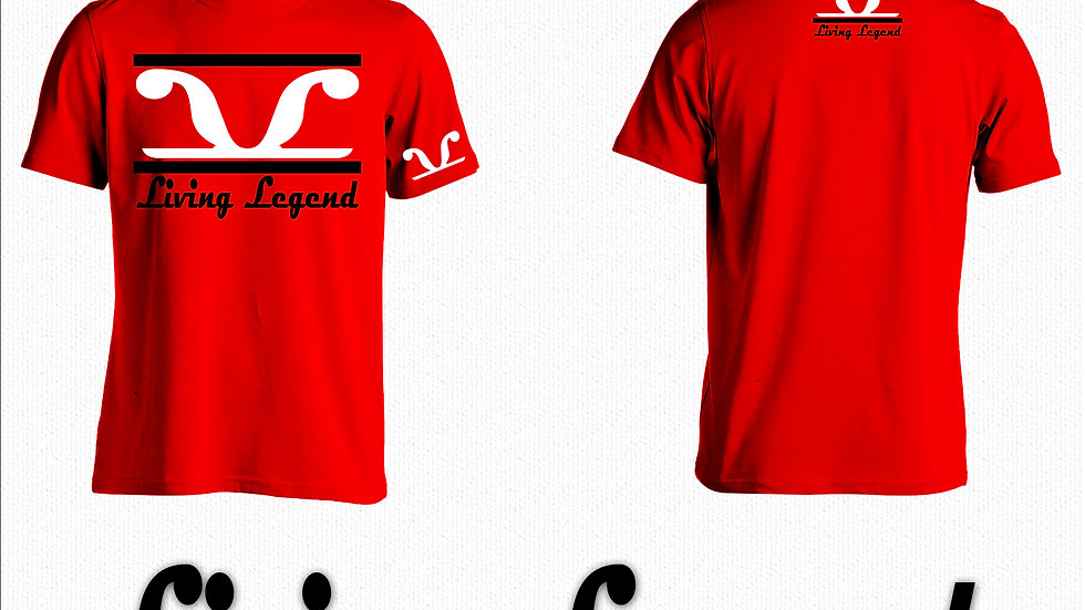 Red Living Legend Black 2 Stripe t-shirt
