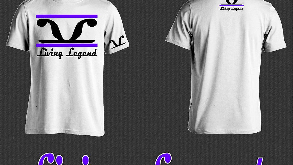 White Living Legend Purple 2 Stripe