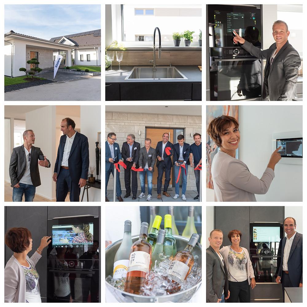 Beste Stimmung bei der CLARON Eröffnung in Poing. Bildnachweis: KAMPA GmbH