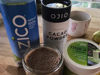 Chocolate hemp coconut smoothie