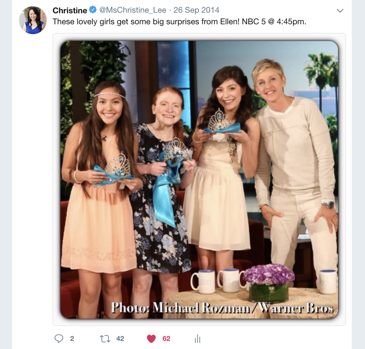 Christine Lee helped report on these teens that caught Ellen's attention