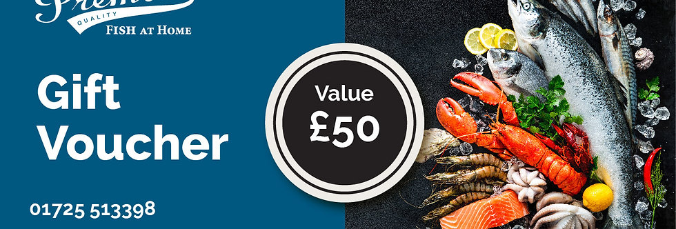 Seafood gift Voucher - £50