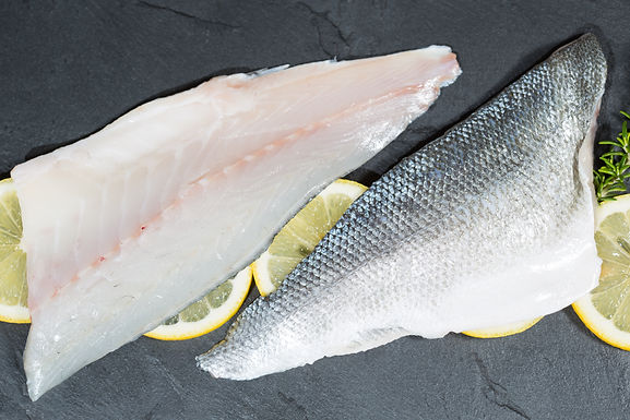 Sea Bass Fillets Farmed - Fresh