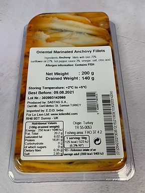 Oriental Anchovies in oil 200g