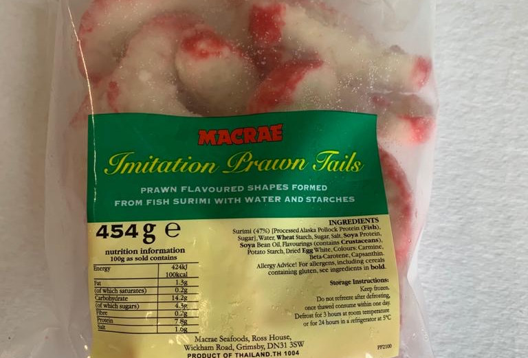 Surimi Prawns tails 454gm bag