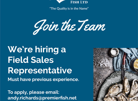 Join the Premier Fish team - we're hiring a Field Sales Representative