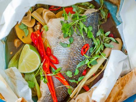 Seafood & Eat It - Thai Style Sea Bass En Papillote