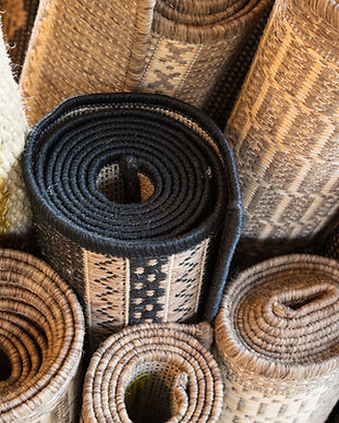 Rolled Up Rugs