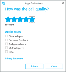 Turn Off 'How was the call quality?' in Teams or Skype for Business Online