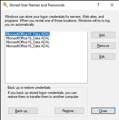 Windows Desktop – Credential Manager CLI