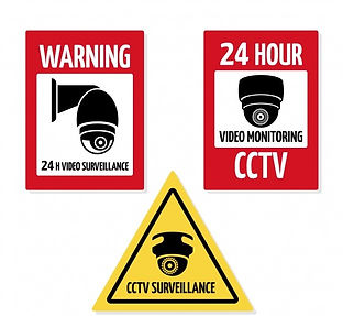 modern-cctv-sign-collection-with-flat-de