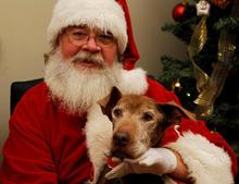 Luly and Santa