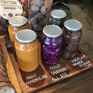 Our house made jam, marmalade and sauerk