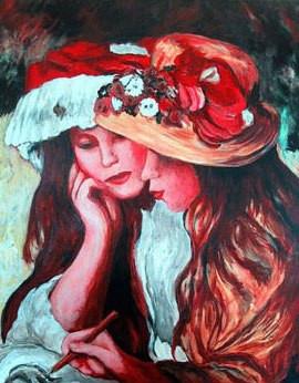 Renoir's Girls with Hats