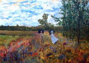 Strolling in Argenteuil Meadow