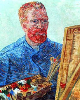 VanGogh Self Portrait in Front of Easel