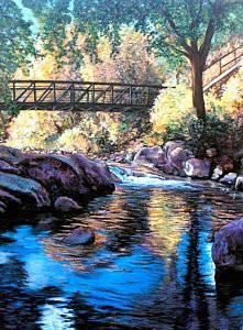 Boulder Creek Fall Late Afternoon