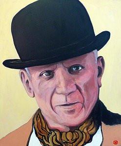 Pablo Picasso by Boulder portrait artist Tom Roderick
