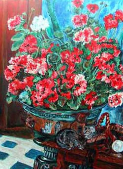 Renoir's Flowers and Cats