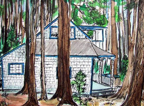Davidson's Cottage Sideview