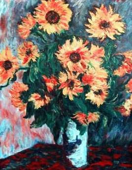 Sunflowers after Monet