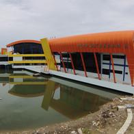 Gedung Perpustakaan A Politeknik Penerbangan Makassar