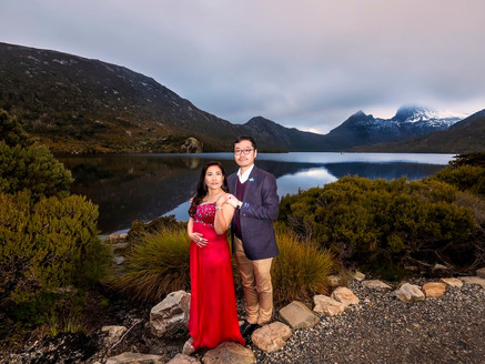Tasmania pre wedding session with M & A