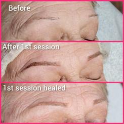 Healed powder brow