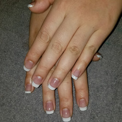 CND Gel Nail Enhancements with white tips