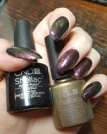 gel mani with CND Gel Nail Enhancement