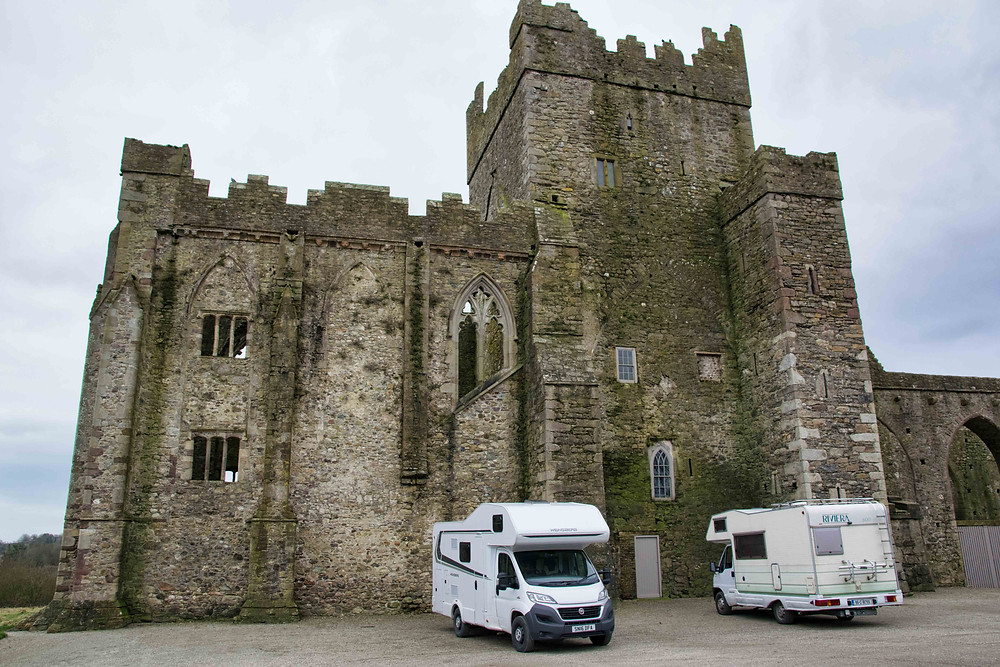 The Caravan at Tintern Abbey for Lunch