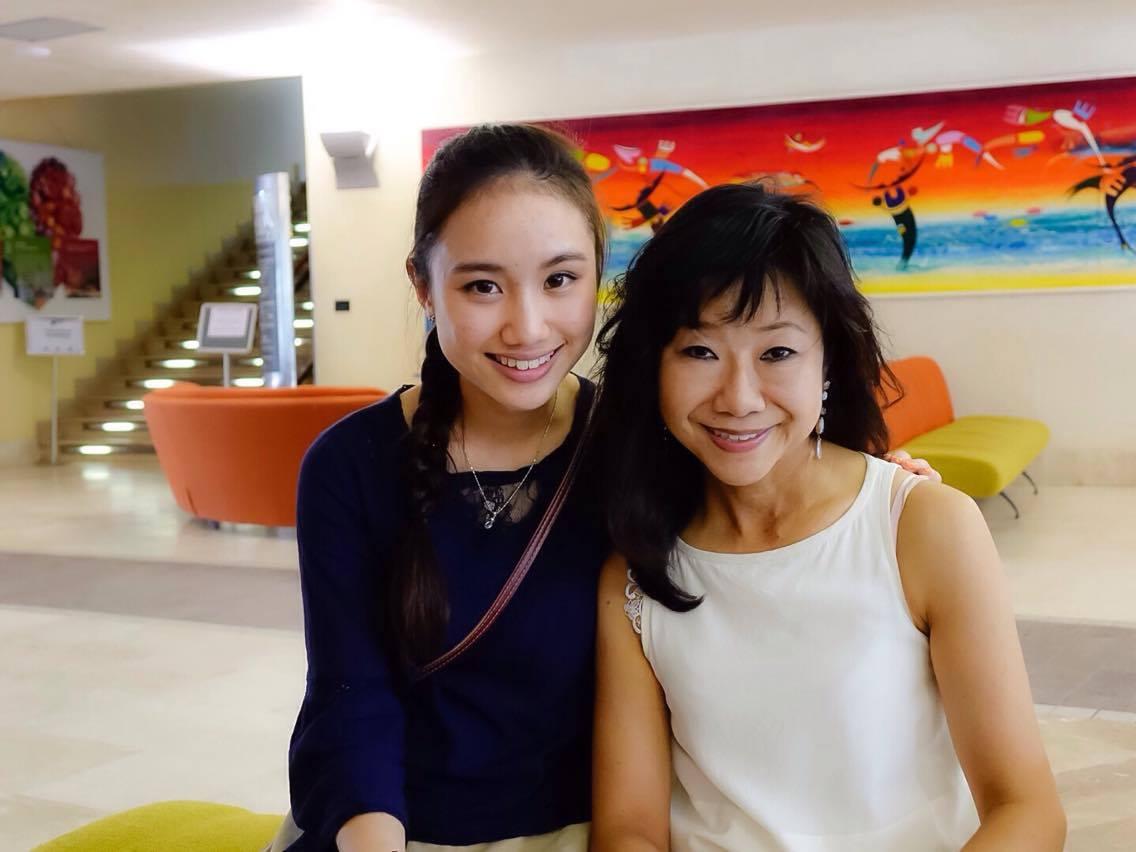 With Momoko Sensei