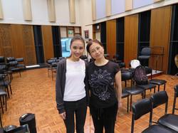 With Kuniko Sensei