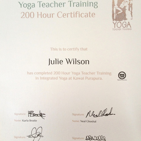 Yoga Teaching certificate