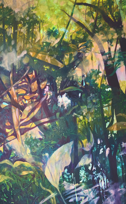 Earth Energy Oil on Paper   6' x 4'   2020