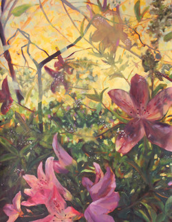 "Fleeting Blooms Oil on Paper | 30"" x 22"" 