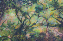 """Barva II Oil on Canvas   24""""x 36""""   2018"""