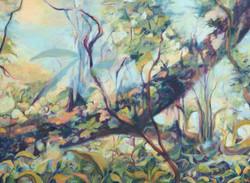 "Barva I Oil on Canvas   16"" x 20""   2018"