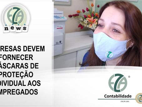 EMPRESAS DEVEM FORNECER MÁSCARAS DE PROTEÇÃO INDIVIDUAL AOS EMPREGADOS