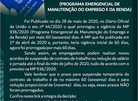 PRORROGAÇÃO MP 936